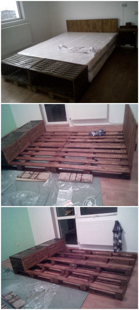Headboard Out Of Pallets by Pallet Bed Headboard Out Of 4 Recycled Pallets 1001