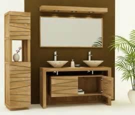 achat vente meuble de salle de bain teck 140 meuble