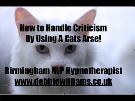 7 Tips On Handling Critics by How To Handle Criticism By Using A Cats
