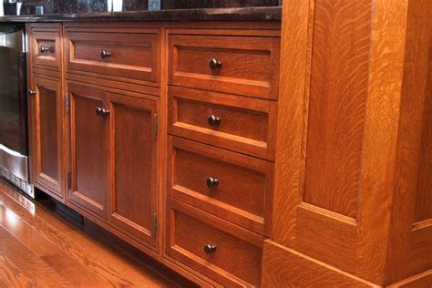 custom quarter sawn white oak kitchen cabinets craftsman