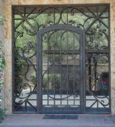 Iron Gate Front Door Glass And Iron Front Door Contemporary Front Doors By Calarchitecturaltraditions