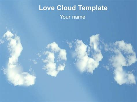Love Cloud Template Cloud Template For Powerpoint