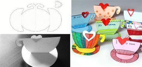tarjetas en forma de taza manualidades reciclables 5 manualidades del d 237 a de la madre para hacer con ni 241 os