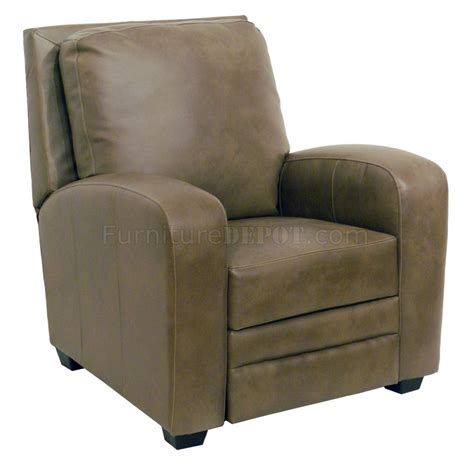 reclined chair mink bonded leather avanti modern reclining chair