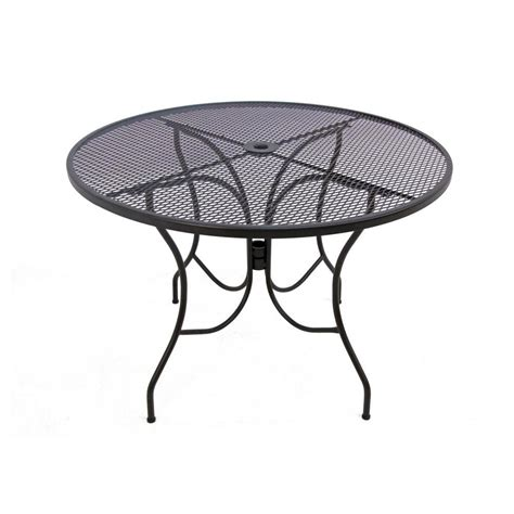 Mesh Patio Table Arlington House Glenbrook Chocolate Brown 42 In Mesh Patio Dining Table 8243000 0130000