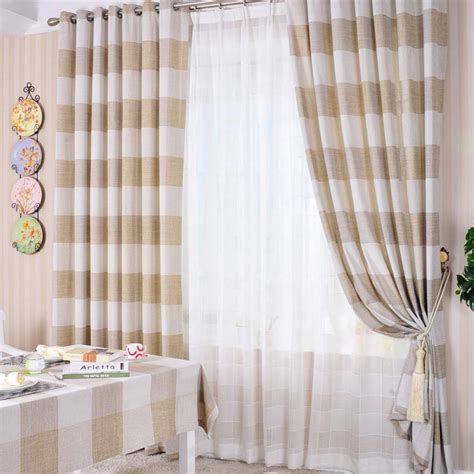 khaki and white striped curtains red striped linen curtains curtain designs