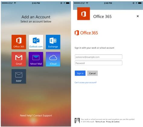 mobile office login outlook for ios and android gives office users a more