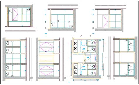toilet layout dwg public toilet layout plan dwg file