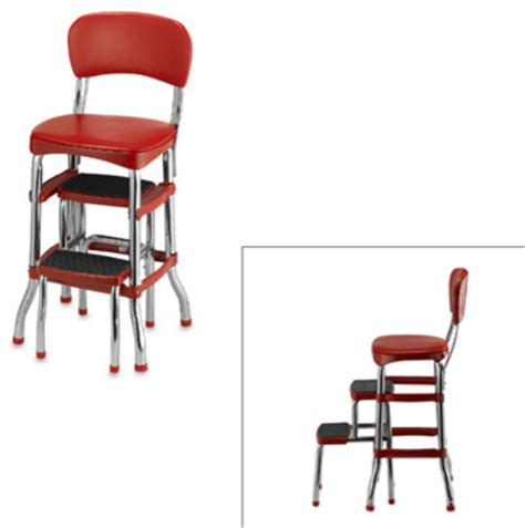 bed bath and beyond stools cosco retro chair step stool red modern ladders and