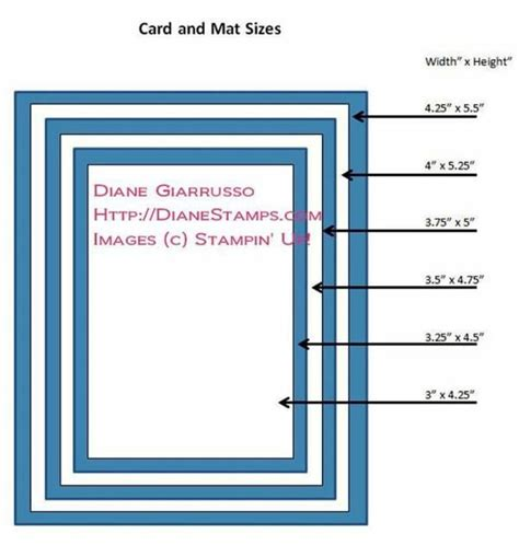 Mat Size by Card And Mat Sizes Stin Up Tutorials