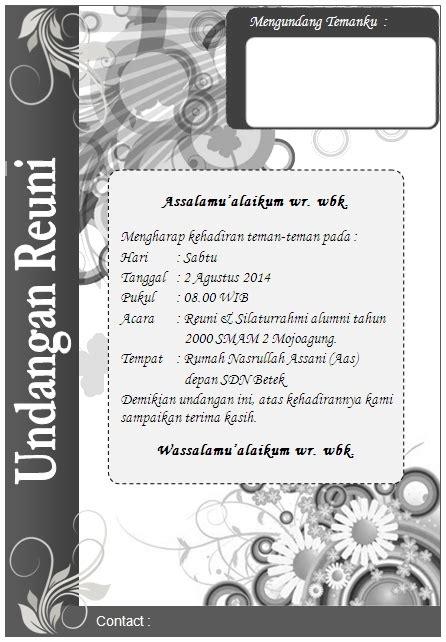 template undangan pernikahan minimalis contoh berbagai undangan biasa