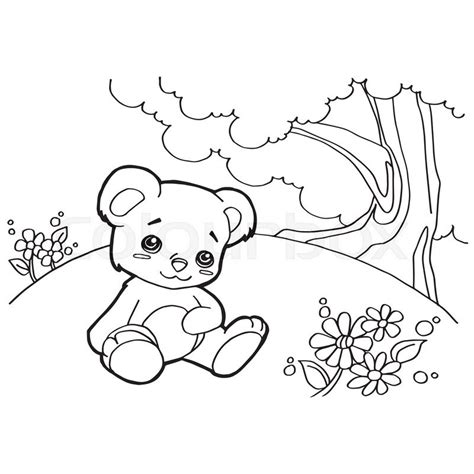 cartoon bear coloring page image of bear cartoon coloring pages isolated on white