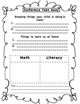 Letter Parent Missed Conference 9 best images about classroom forms and checklists on