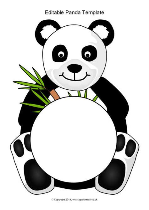 panda template editable panda template sb10313 sparklebox