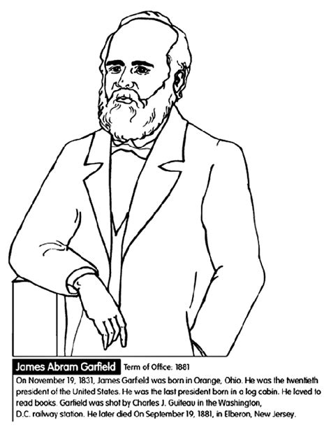 coloring pages of united states presidents u s president james garfield crayola ca