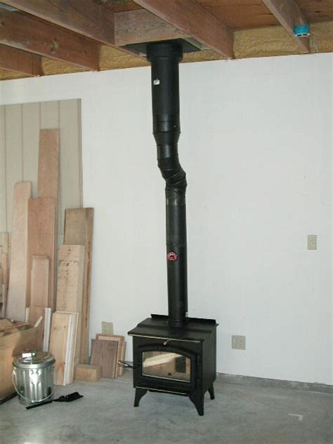 How To Install A Wood Burning Stove Into A Fireplace by Stove Chimney Install Stove Chimney Pipe