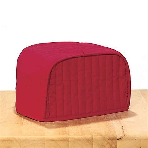 ritz quilted natural ivory appliance cover ritz 174 quilted toaster oven cover in paprika bed bath
