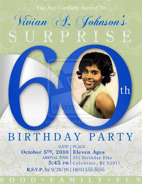 Th Birthday Invitations For by 60th Birthday Invitations Ideas Bagvania Free