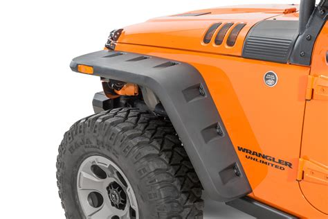 jeep jk flat fender flares rugged ridge 11640 10 hurricane flat fender flares for 07