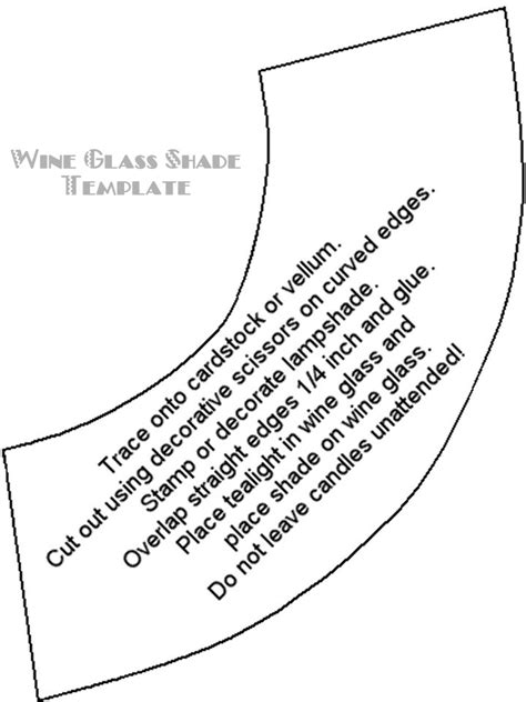 Vellum L Shades For Wine Glasses Template by Wine Glass Shade Template Crafts Wine