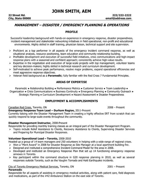 Resume Samples Director Operations by Emergency Response Manager Resume Sample Amp Template