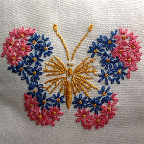 free butterfly hand embroidery vogart pattern 692 graceful butterfly in the quiet