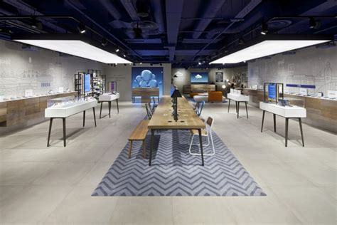 retail layout concepts o2 concept store by dalziel pow manchester uk