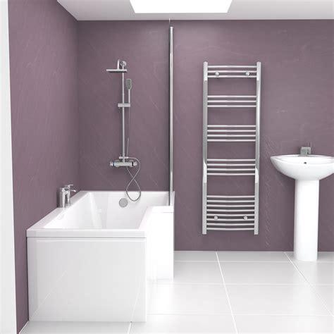 1500 l shaped shower bath l shape modern white shower bath glass screen 1500 1700mm left right no panel ebay