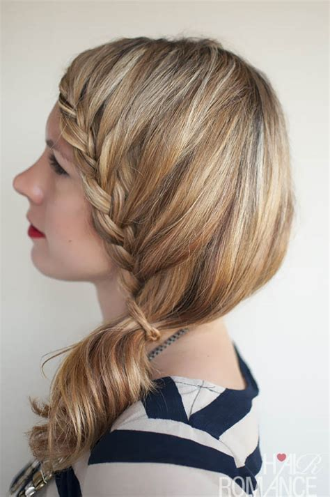 braided hairstyles side ponytail lace braid hairstyle tutorial hair romance