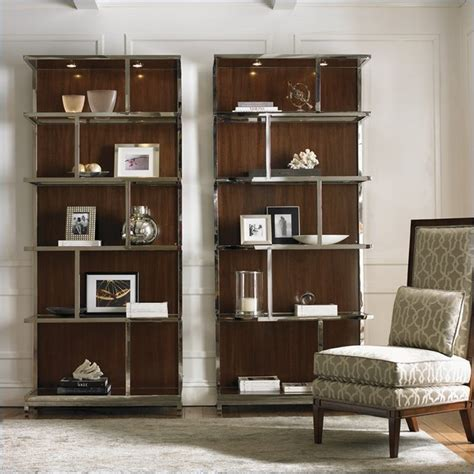houzz bookcases mirage wall bookcase in finish