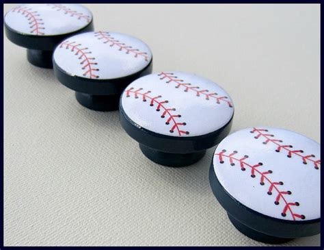 Baseball Dresser Knobs by Baseball Knobs Sports Navy Base Sports Theme Knobs