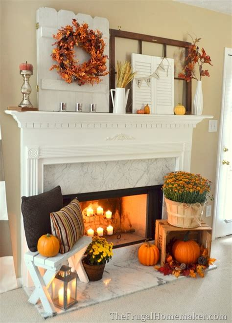 fall fireplace mantel on fall fireplace fall