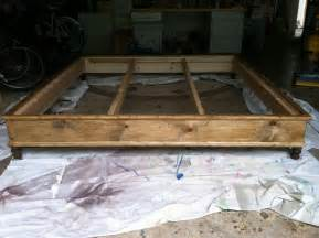 Bed Frame Yard How To Build Platform Bed King Size Woodworking