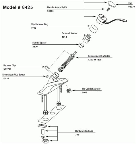 moen shower faucet parts diagram repair parts and finish trim kits for moen faucets inside