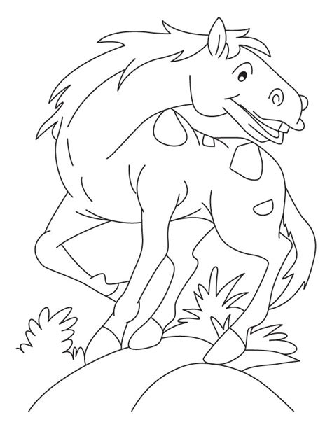 real horse coloring pages az coloring pages