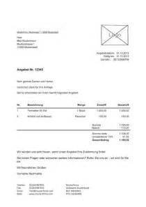 Angebot Brief Beispiel Angebotvorlage Kostenlos Zum Lexoffice