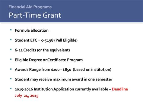 Credit Equivalent Amount Formula State Financial Aid Programs Review