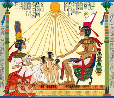 akhenaten and his family akhenaten s family by ditho on deviantart