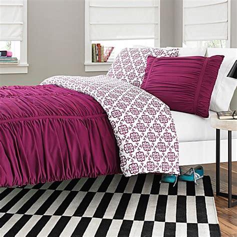 fuchsia comforter reagan reversible comforter set in fuchsia bed bath beyond