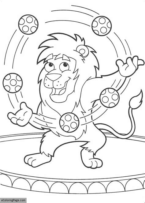 circus lion coloring pages dora the explorer leon the circus lion printable coloring