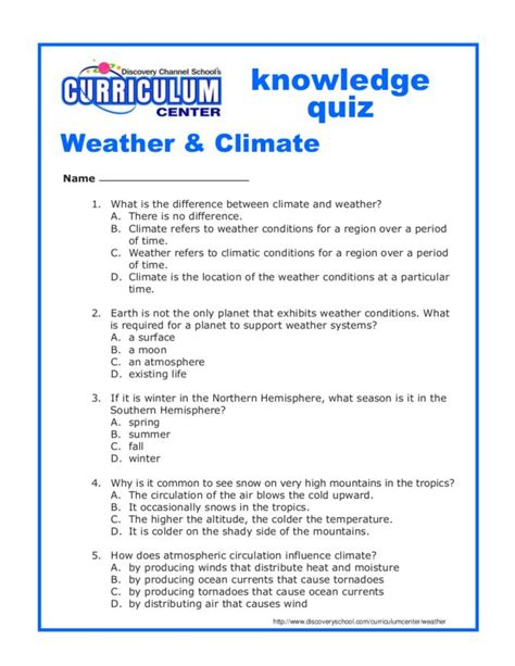 Weather Vs Climate Worksheet by Weather And Climate Worksheets Free Worksheets Library