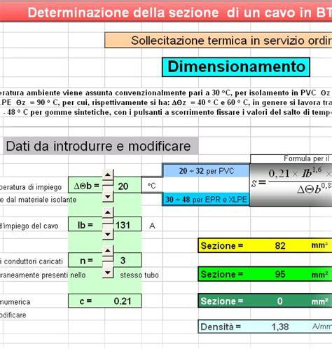 formula della portata dimensionamento cavi con il criterio stso electroyou