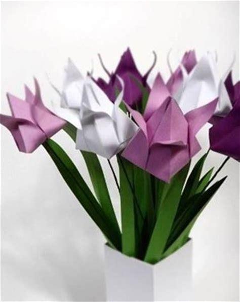 origami fiore facile piegare un origami fiore di tulipano fiori di carta