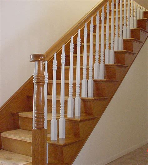 Wood Stair Railing Wooden Staircase William S Woodworks Wood Stairs