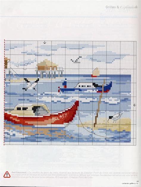 imagenes de barcos para bordar mejores 88 im 225 genes de punto de cruz barcos en pinterest