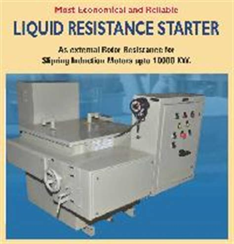 liquid resistor type starter liquid resistance starter manufacturers suppliers exporters in india