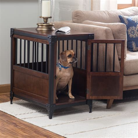 small crate end table boomer george trenton pet crate end table crates