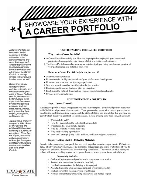 Best Photos Of Template Of Portfolio Teacher Portfolio Exles Portfolio Manager Resume Career Portfolio Template