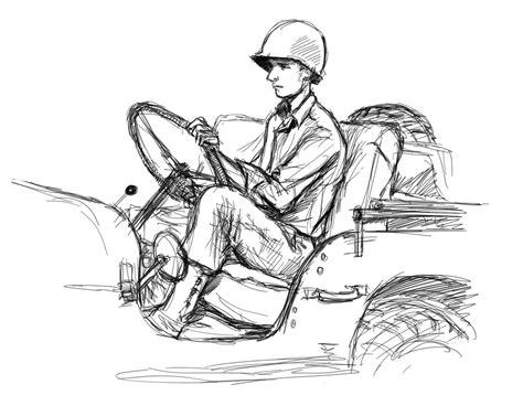 ww2 jeep drawing jeep wwii gis
