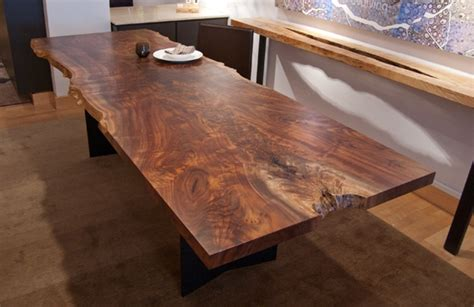 slab dining room table fancy urban hardwoods furniture san francisco walnut